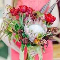 Интерпретация оформления оттенков марсала (Marsala) на нашем стенде WFEST-2015 (Надя Палагина и цветочных Дел МАСТЕР). За фото спасибо WarmPhoto