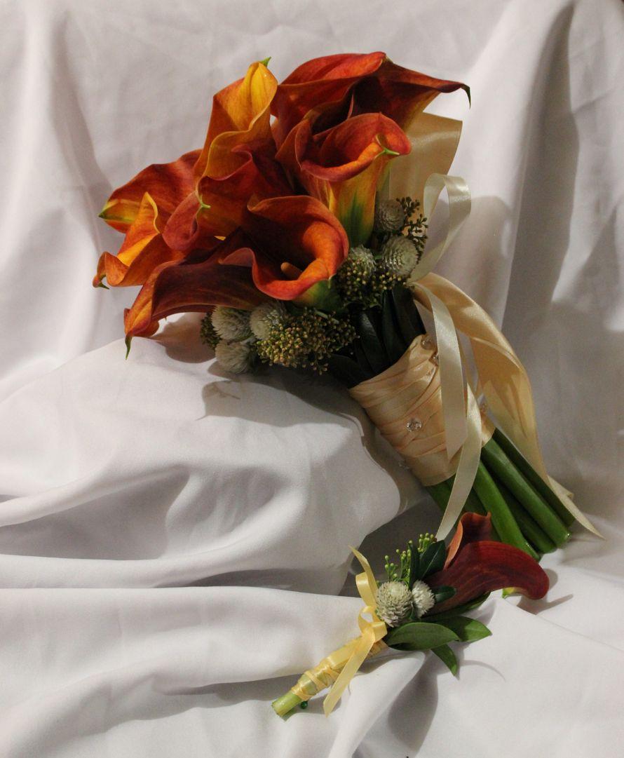 Свадебный букет из рыжих калл своими руками, одинцово