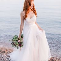 Больше фото:   Свадебное платье «Адель» Цена: 38 900₽  Возможные цвета: - белый - молочный - нежно-розовый - жемчужно-кофейный - припыленно-сиреневый - припыленно-серый  При отсутствии в наличии нужного размера это платье может быть выполнено в размерах