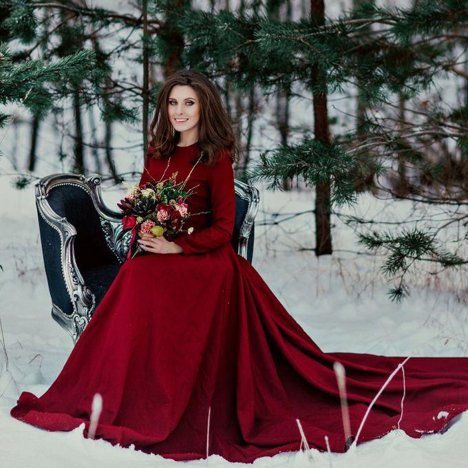 выбрать практичный фотосессия свадьбы в красном платье зимой при выборе, которые