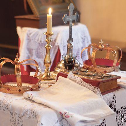Церемония православного или католического венчания