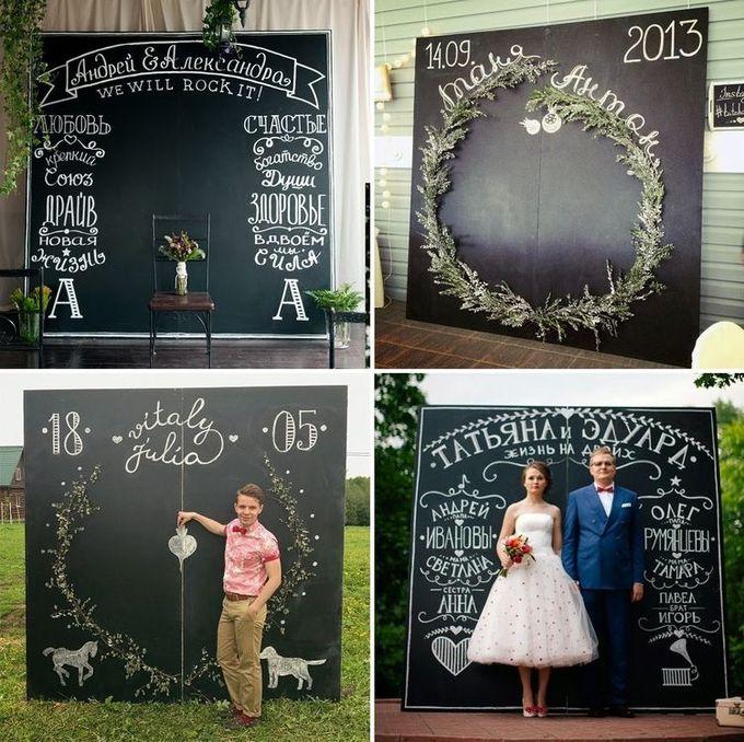 Фотозоны на свадьбу своими руками