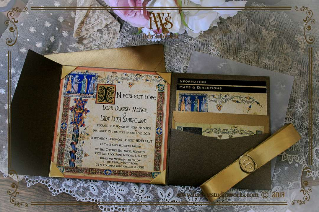 medieval wedding invitations - 1080×719