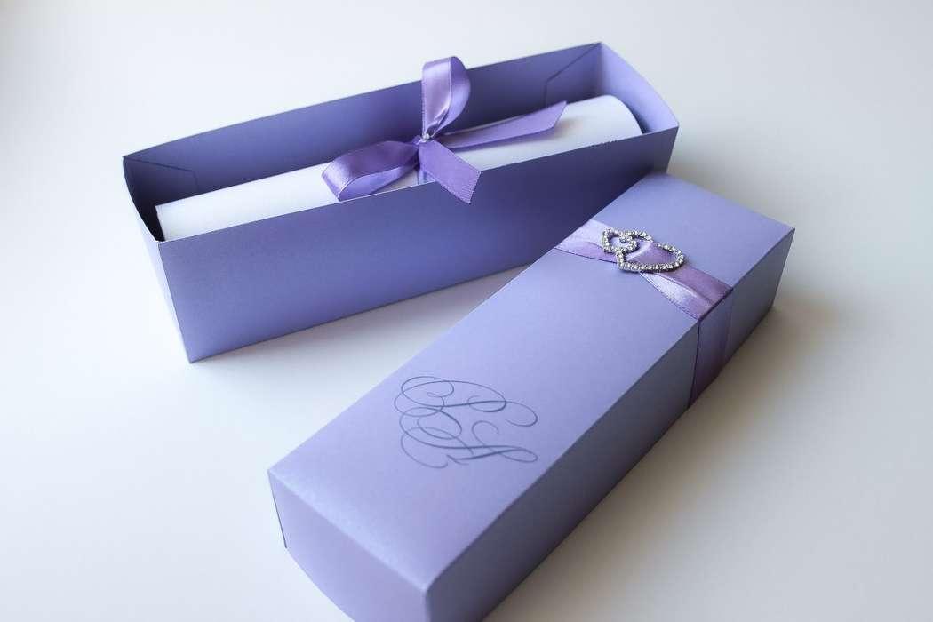 """Приглашение свиток в коробочке - фото 7100118 Полиграфия и аксессуары """"Мастерская приглашений"""""""