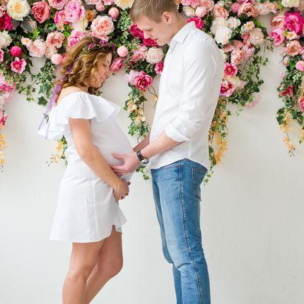 Фотосессия для беременных Нежное положение