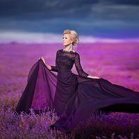 Образ для Елены на фотосессию в лаванде Макияж /Прическа - Анохина Анастасия #образдляфото #макияж #прическа #пучок #визажист #севастополь #крым