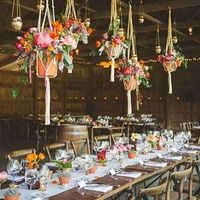 Подвесные кашпо на свадьбу
