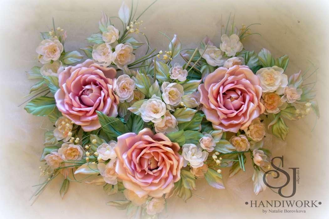 Шёлковые розы - роскошное украшение.. - фото 3690339 Silkjardin - цветы ручной работы