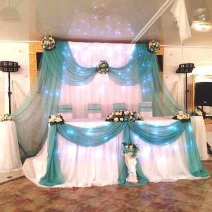 Оформление зала в мятном цвете