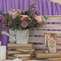 декор свадьбы в лавандовом цвете