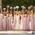 Невеста и её подружки- бело-розовая гамма