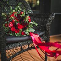 Букет невесты в цвете марсала Фото Лена Фомина Флорист Пашкова Ольга