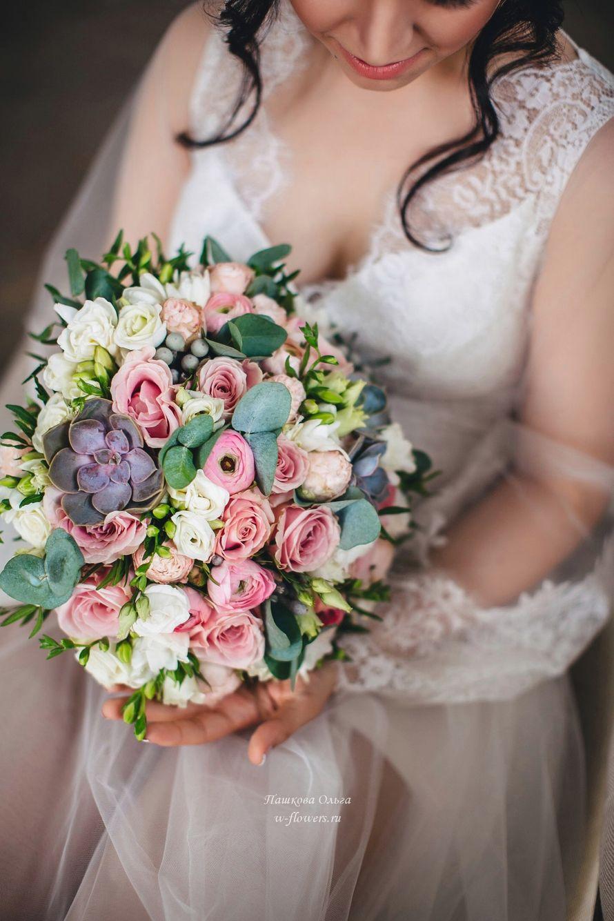 Букет невесты с суккулентами Флорист Пашкова Ольга - фото 12941472 Пашкова Ольга - флорист-дизайнер