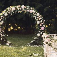 Круглая арка для выездной регистрации Фото Елена Горина Организация CrystalWedding Декор Пашкова Ольга