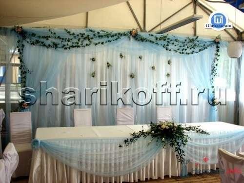 Задник оформленный цветами на свадьбу - фото 23278 Шарландия - оформление праздника