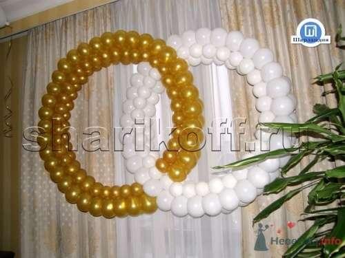Обручальные кольца из воздушных шаров - фото 23290 Шарландия - оформление праздника