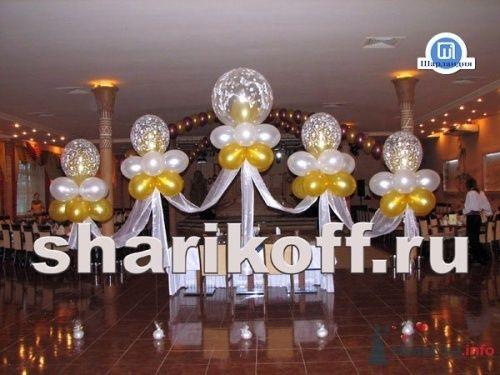 Композиция из шаров на свадьбу
