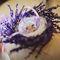 Лавандовое гнездо для колец на свадьбе Димы и Бибигуль
