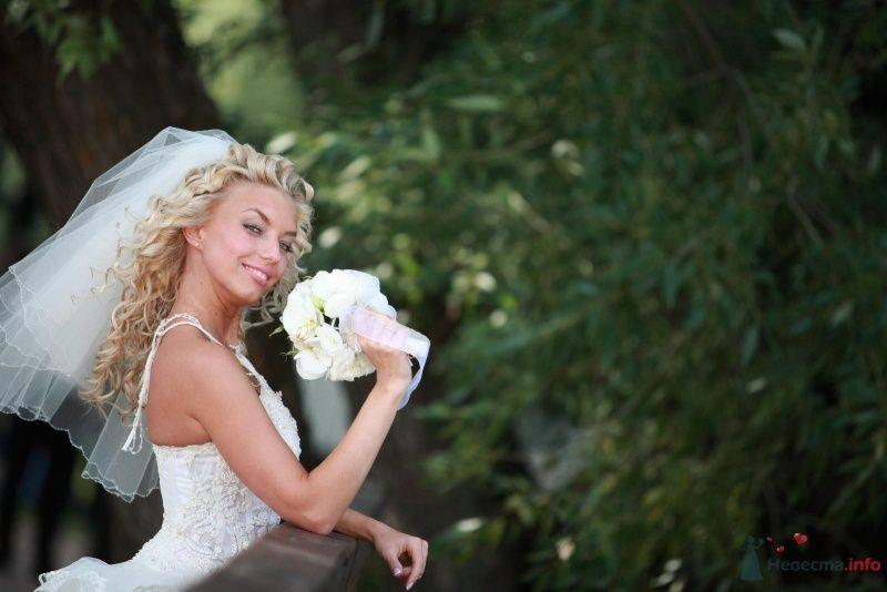 Невеста в белом платье стоит в парке возле дерева - фото 51889 barbie