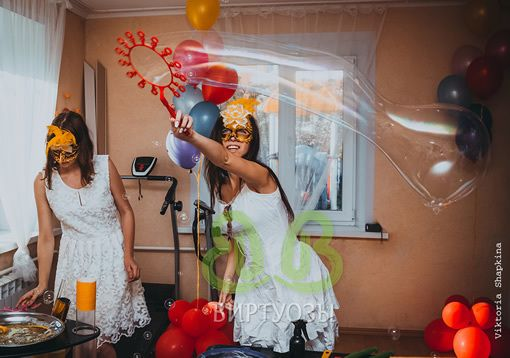 """Шоу мыльных пузырей """"Каруселька"""""""