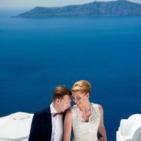 Свадьба на Санторини, Катя и Денис, организатор Garnet Wedding Studio
