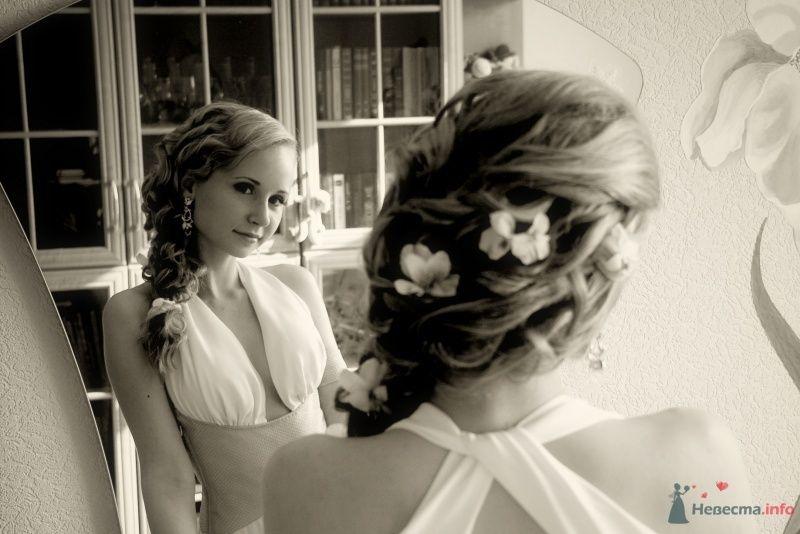 Фото 31519 в коллекции Свадебные прически с живыми цветами - Визажист-стилист свадебного образа Лариса Костина