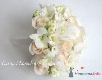 Классический букет в кремово-белой гамме - фото 28875 Цветочная мастерская Флорины