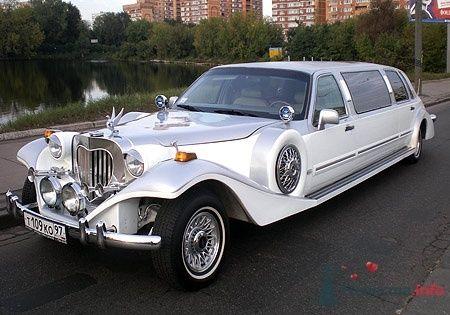Excalibur Phantom, бело-серебристый, 7 мест - фото 2772 Vip Limousine - аренда авто