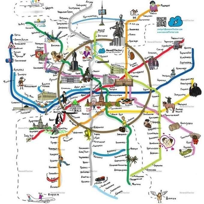 Карта народная и схемами