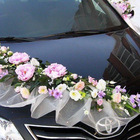 Цветочные украшения на машину своими руками 42