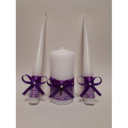 """Свадебные свечи """"Фиолет"""""""