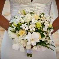 Букет невесты. Свадьба на Барбадосе.