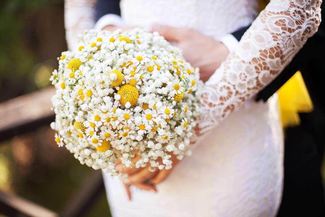 Букет из ромашек для невесты