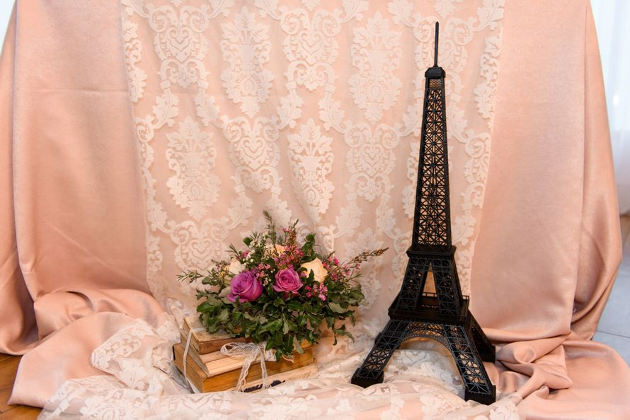 "Оформление с нотками французского шика) - фото 11905080 Студия флористики и декора ""Праздничная мозаика"""