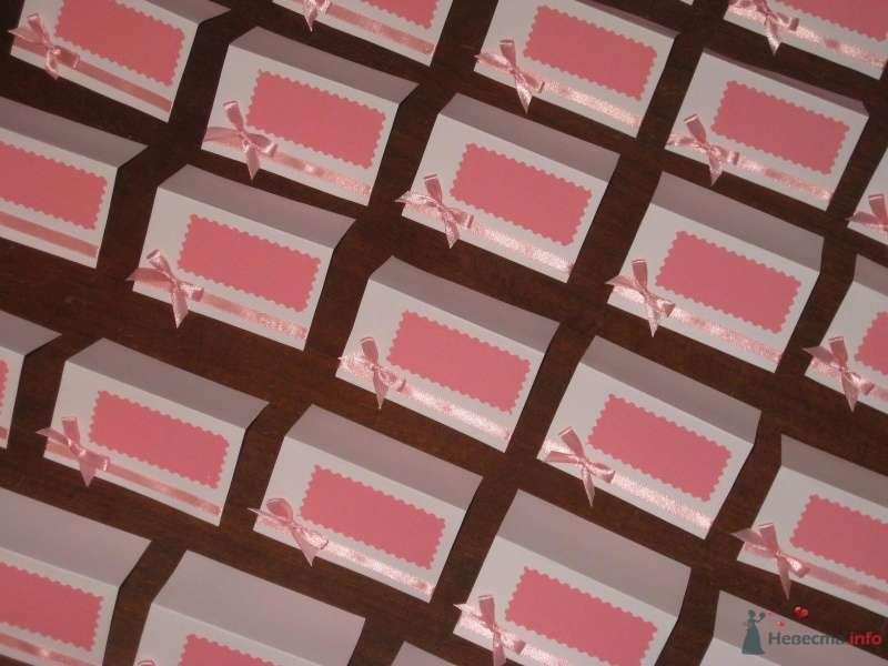 Стройные ряды пока еще безымянных рассадочных карточек... - фото 62437 Anastasiya