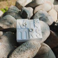 Подставка для колец на свадьбе Маши и Саши, июнь 2013