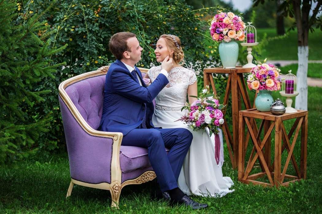 """Фотозона в лиловых оттенках - фото 16527216 Мастерская оформления свадеб """"Magic garden"""""""