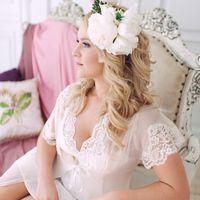 флористика, венок, лиловый ,розовый, утро, невеста, пеньюар
