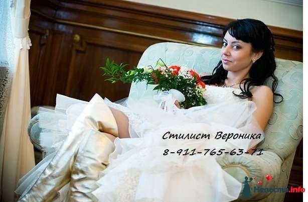 Фото 309342 в коллекции Мои невесты (прически и макияж) - Стилист Вероника Краснова