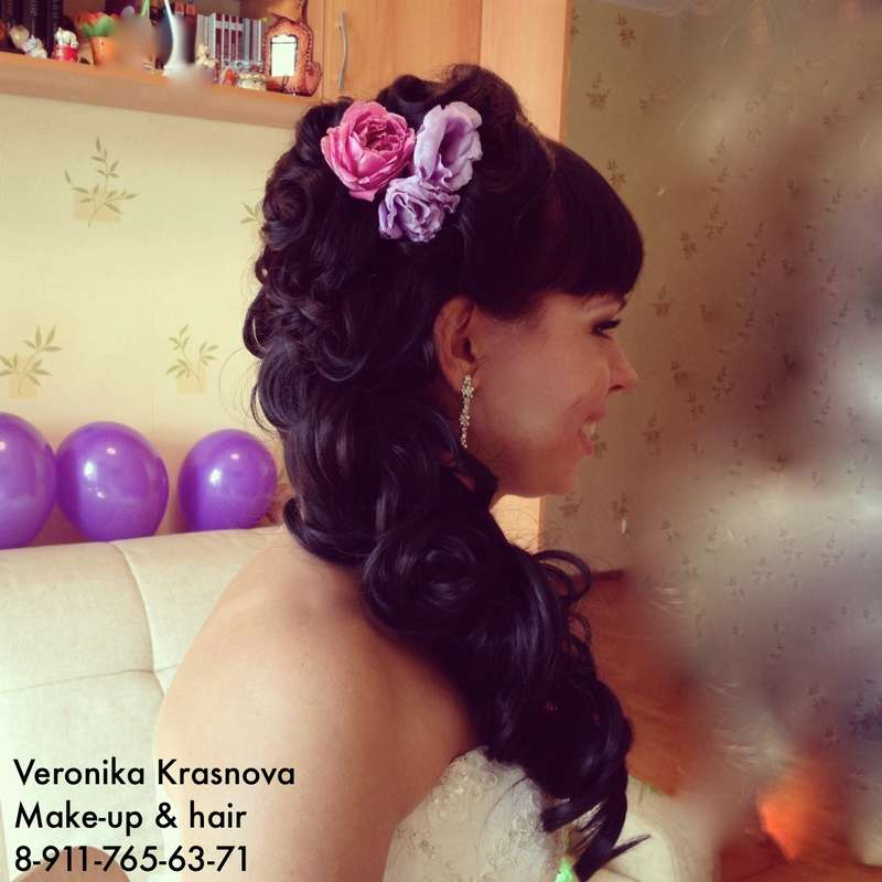 Фото 859095 в коллекции Мои невесты (прически и макияж) - Стилист Вероника Краснова
