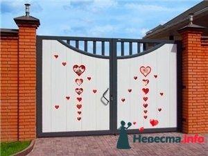 Как украсить ворота невесты