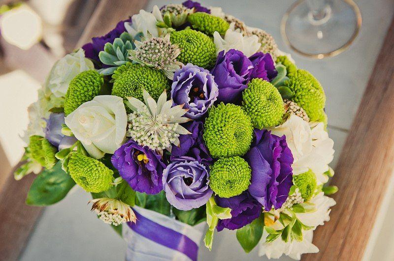 Букет фиолетовые с зеленым какой цветы, цветов спб