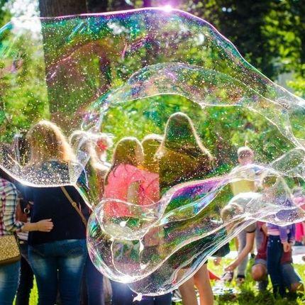 Интерактив с мыльными пузырями