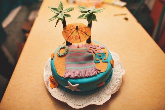Торт в гавайском стиле фото