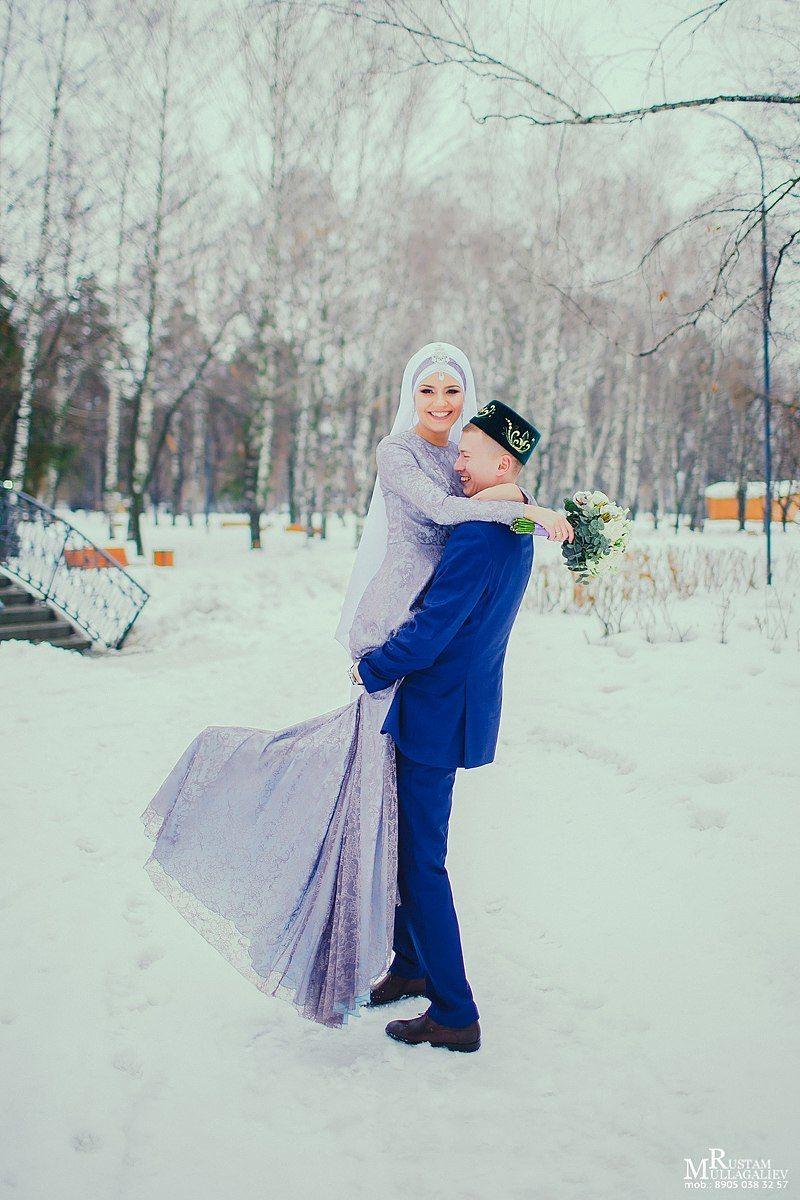 амбициозный никах фотосессия зимой является