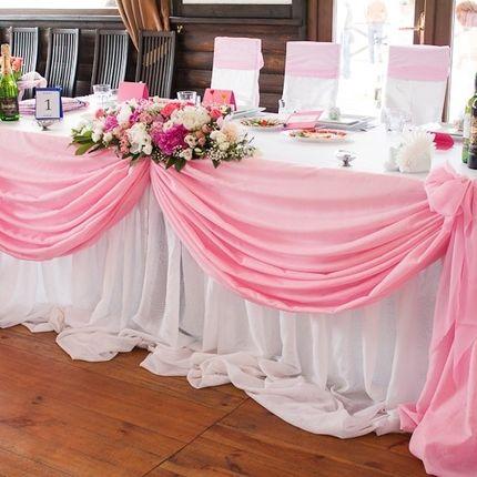 Оформление стола молодожёнов в цвете свадьбы
