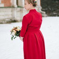 Зимняя свадьба в красных тонах