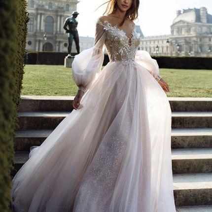 Платье Бохо со шлейфом