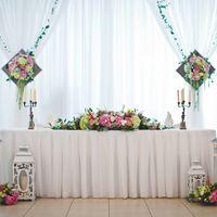 свадьба, декор, оформление, цветы, свадебная флористика, композиция, оформление президиума, фонари, подсвечники, свечи