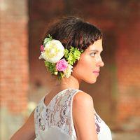 цветы в прическу, венок на голову, флорист Анастасия Пицик